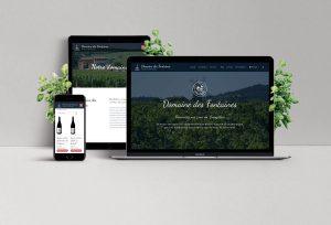 Réalisation d'une boutique en ligne pour le Domaine des Fontaines